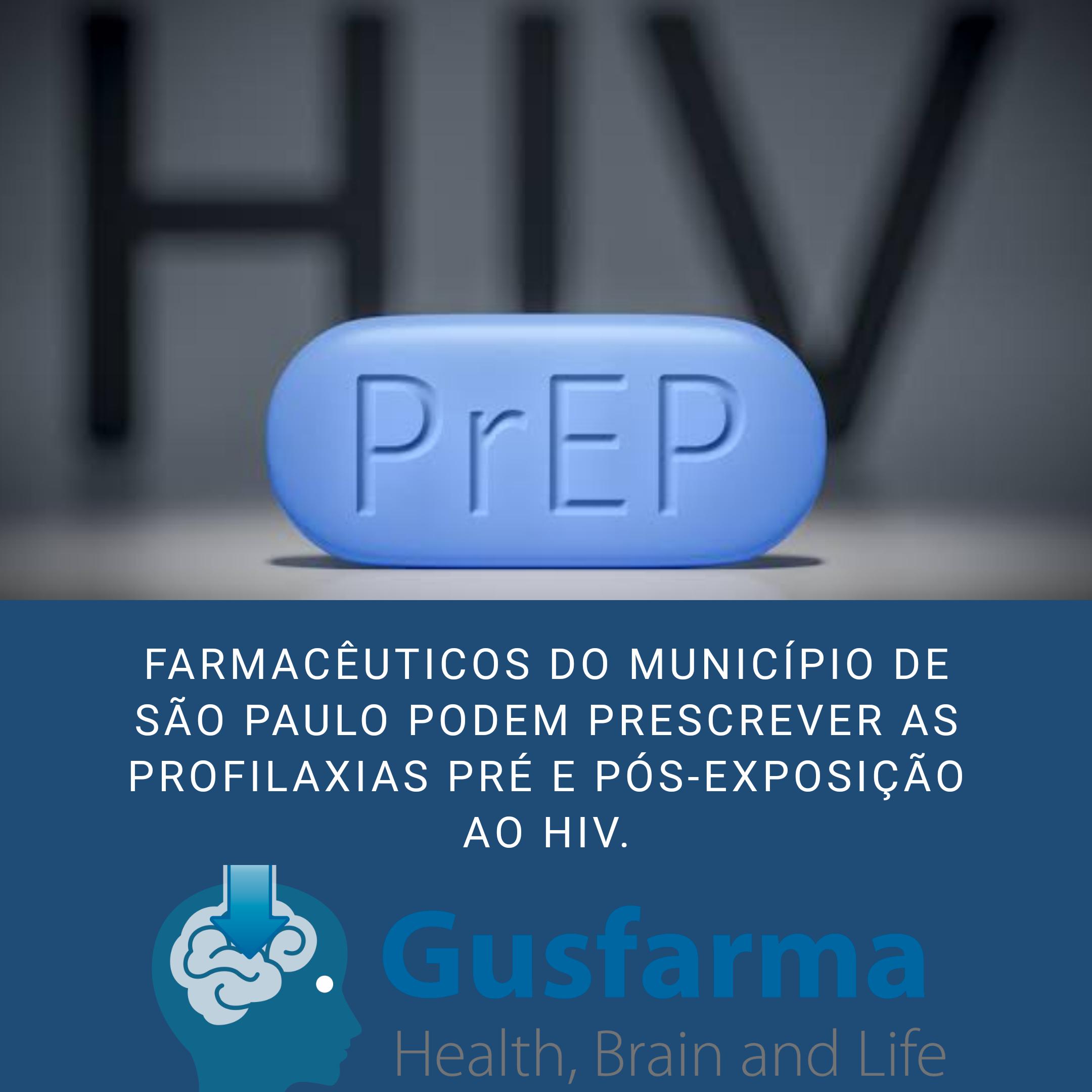 Farmacêuticos do município de São Paulo podem prescrever profilaxia pré e pós exposição ao HIV.